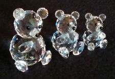 Swarovski Crystal 'TEDDY BEAR FAMILY' Small, Medium, Large (glass, figurine)