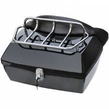 DMY-Black Motorcycle Trunk Tail Box Luggage Case top rack w/o spoiler For Yamaha
