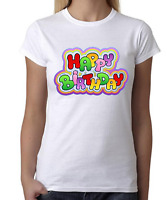 t shirt Mens Womens Kids T-shirt Happy brithday colores BIRTHDAY GIFT FUNNY