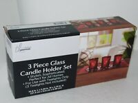Red Glass Candle Holder Home Decor Trueliving Essentials Gift