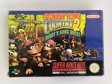 SNES Donkey Kong Country 2 Diddy's Kong Quest Jeu Super Nintendo complet PAL