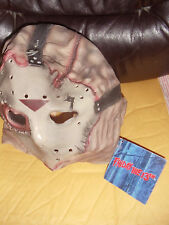 Friday The 13th Jason Voorhees Deluxe Overhead Mask  Gray  One Size NEW NWT