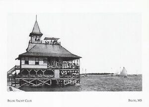 "*Mississippi Postcard-""The Biloxi Yacht Club"" -@ Biloxi, Ms."