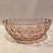 Vintage Jeannette Pink Depression Glass Cube Diamond Cubist Optic Small Bowl