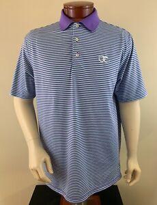 PETER MILLAR Men's Summer Comfort Old Chatham Golf Club Golf Polo Shirt Size L