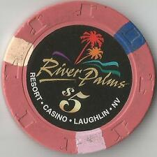 RIVER PALMS  LAUGHLIN  CASINO CHIP  $5
