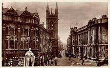 Rppc Postcard Lowgate Hull Uk Church Watchmaker Silversmith Street Scene Horse