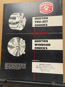 Vtg Horton Chuck Brochure Tru-Set Windsor Locks 6-Jaw 1955 Trade Catalog