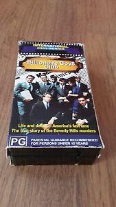 BILLIONAIRE BOYS CLUB MINI-SERIES 1987 -TRUE STORY 2 X VHS VIDEO TAPES