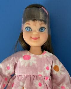 Vintage Barbie BRUNETTE TUTTI Wearing BIRTHDAY BEAUTIES Outfit #3617