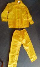 PVC Waterproof Jacket & Trousers Rain Suit Yellow