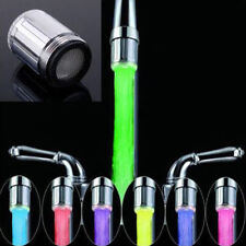 Changing Sensor Faucet Sale Glow Color Temperature RGB Light Tap Water LED