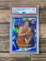 2017 Optic SHOCK LAURI MARKKANEN (RC) ROOKIE #159 PSA 9CHICAGO BULLS