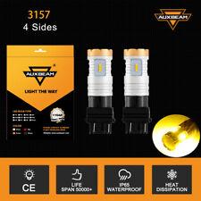 AUXBEAM 3156 3157 LED Fog Light Bulbs  Amber For Ford F150 1991-2017 2016 2015