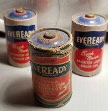 Vintage EVEREADY Size D Battery No. 950 (1 - 1943 & 2 - 1949)