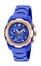 New Womens Invicta 20070 Mobula Chronograph Blue Ceramic Bracelet Watch