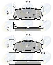 Comline Rear Brake Pad Set Fits Mazda XGI993