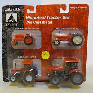 Ertl Allis Chalmers Historical Tractor Set WD45,D19,6690,9695 1/64 AC13187-7HD-P