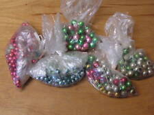 Vintage Mercury Glass Bead Christmas Tree Garland Parts Assorted Size and Color