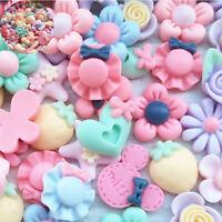 Button Mix Flatback 3D Flower Lots Resin Craft Scrapbook Phonecover Diy