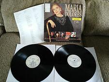 MARIA DOLORES PRADERA 2 X LP VINYL VINYL EDITION ESPAÑOLA ORIGINAL VG/VG 1989