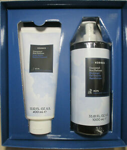KORRES AN ESCAPE TO GREECE UNSCENTED BODY BUTTER & SHOWERGEL GIFT SET BOXED