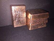 ~ 20oz Copper Bullion Bars ~ 2 Bars (40oz!) ~ Hand Poured ~ Ingot Loaf Style