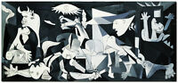 "Guernica - 48x20"" Signed Hand Painted Picasso Oil Painting On Canvas Wall Art"