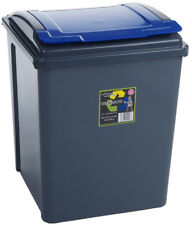 Wham Kitchen Under Counter Recycling Waste Bin 50L - Blue Lid