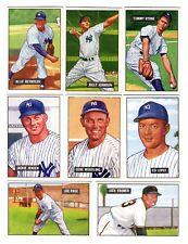 1951 BOWMAN NEW YORK YANKEES LOT (8)
