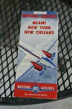 1945 National Airlines Miami New York New Orleans Buccaneer Route Lockheed plane