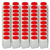 50er Pack Behälter 500 ml  Weithalsflasche  Kunststoff-Vierkantdose Laborflasche