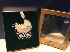 Vintage 2002 Wedgwood Babys First Christmas Ornament Baby Buggy England 1759