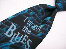 Nwt  M & M's  I'VE GOT THE BLUES   Mens  POLY Necktie 8-711 Ht 6
