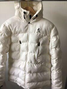 GYM KING SNOW WHITE UNISEX COAT NEW SEASON TAGE REMOVED MEDIUM SIZED £37