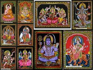 Wholesale Lot 2 10 God Lord Hindu Poster Wall Hanging Tapestry Bulk Hippy Cotton