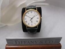 Tiffany & Co. 14K (885K) Wristwatch Black Roman-Numeral White Dial