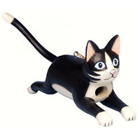 POUNCING BLACK & WHITE TUXEDO CAT BIRD HOUSE - CAT BIRDHOUSE - GARDEN DECOR