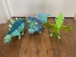 3 X Jim Henson Dinosaur Train Morris, Tank and Tiny Interactive Toys