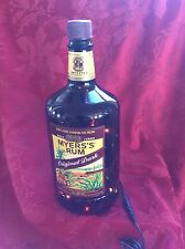 NEW Electric LAMP 1.75ml MYERS'S Rum Empty LIQUOR BOTTLE BLINKING Multi LEDs