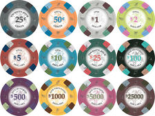 NEW 100 PC Poker Knights 13.5 Gram Clay Poker Chips Bulk Lot Mix or Match Chips