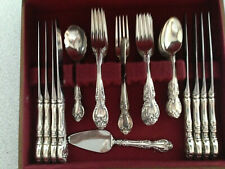 Gorham Melrose Sterling Silver Flatware 36 Pieces / 8 Place Settings NM