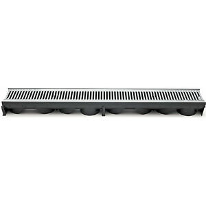 PSC Trench or Driveway Trough Linear Gutter Drain Zinc Plated Grate Single Unit