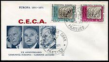 1971 - Ventennale della C.E.C.A. - n.1145/1146 - Busta  FDC