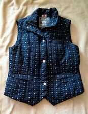 Ariat International Women's Quilted Vest Black Silver Snap Zip Front Size S