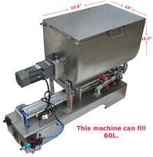 100-1000ml,Liquid Paste Filling Mixing Machine, Piston Filler Machine