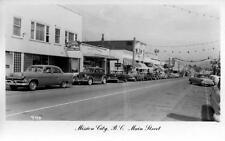 Photo. 1954-5. Mission City, B. C Canada. Main St - autos