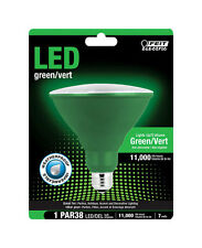 FEIT Electric  LED Bulb  7 watts Weatherproof  PAR38  Green
