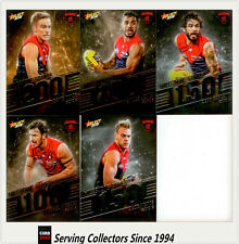 AFL Trading Card MILESTONES SUBSET COMPLETE FULL TEAM SET-MELBOURNE-2012-2018