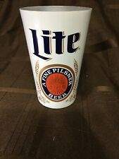 Miller Lite Beer white Aluminum Cup 12.oz New